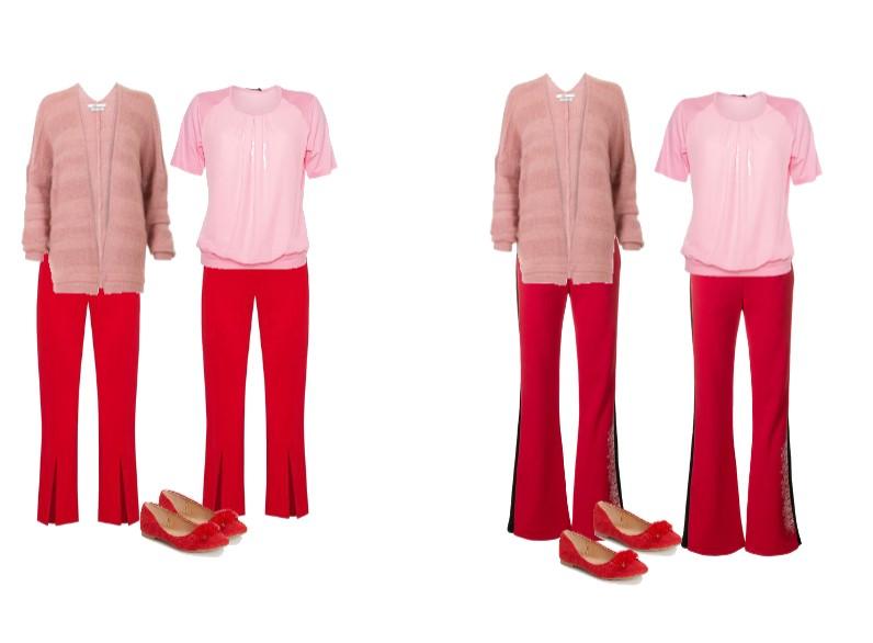 Kleurencombinatie rood met roze